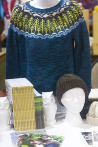 Our booth at the very first Knit City!