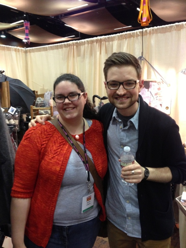 Meeting Jared Flood, knitting hero.