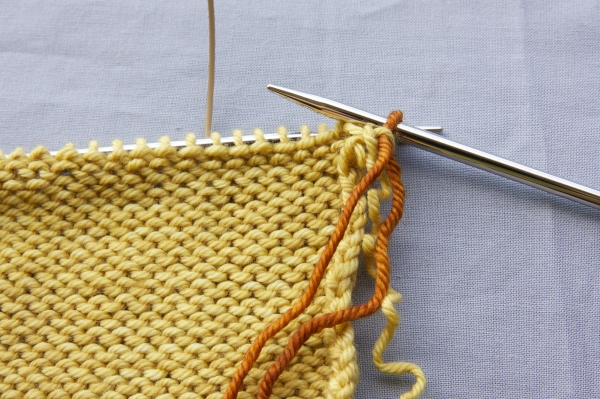 Pull the loop of new yarn through the stitch
