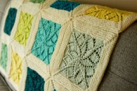 Vivid Blanket with contrast garter edges