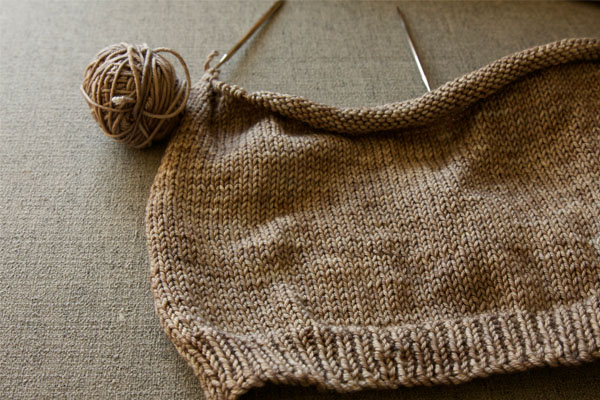 Hunter's Antler sweater so far