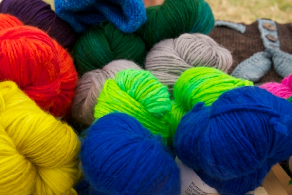 And finally, more bright yarn from KT!