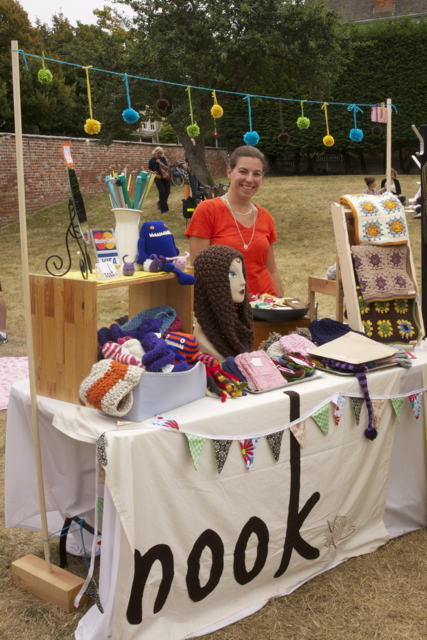 Rebecca from nook at her inviting booth