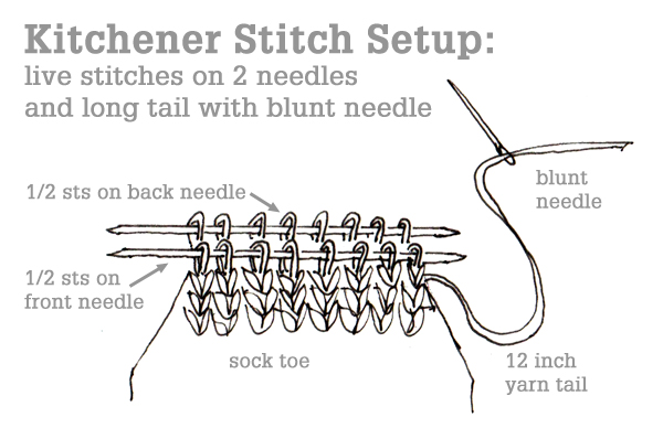 Putting Stitches On Knitting Needles : The Kitchener Stitch Tin Can Knits