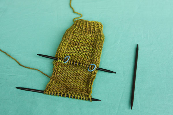 Finished heel flap