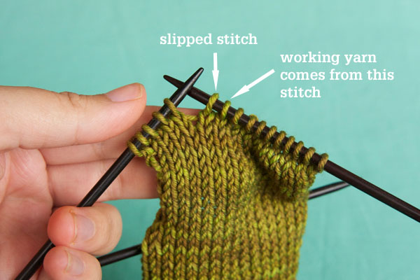 Knitting Terminology Ssk : How to work a ssk slip knit decrease tin can