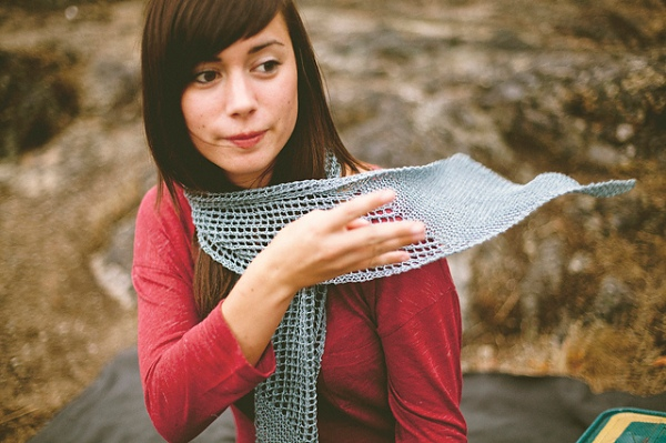 Strathcona Scarf by Jane Richmond.  Photo © Nicholas Kupiak