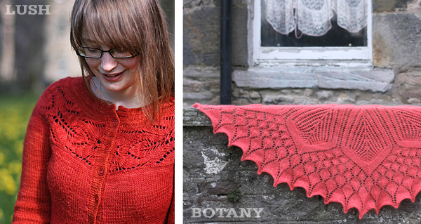Lush Cardigan and Botany Shawl