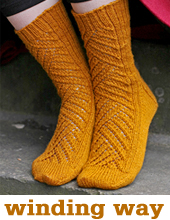 Winding Way Socks by TIn Can Knits