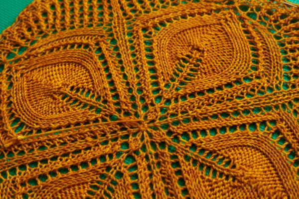 Make sure you can really see the lace stitches when blocking.