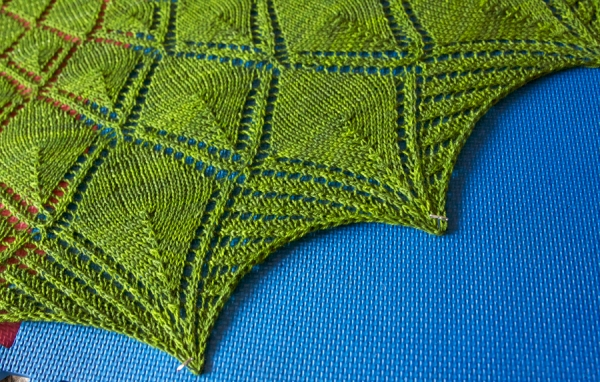 How to block a lace shawl