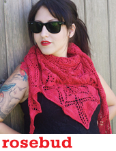 Rosebud Shawl by Tin Can Knits