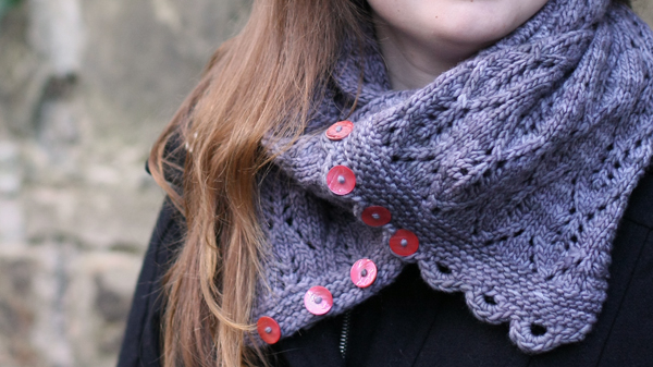 Gothic Lace Cowl Detail