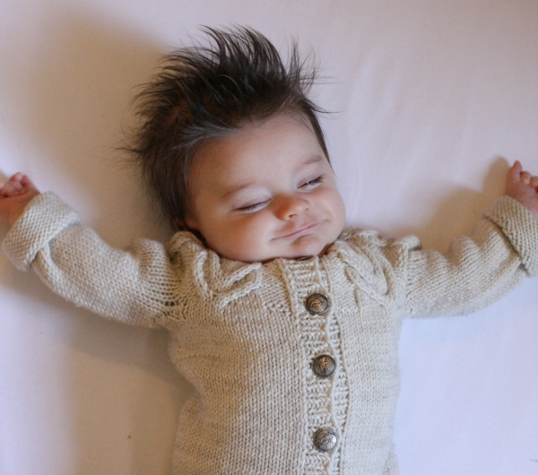 baby antler cardigan