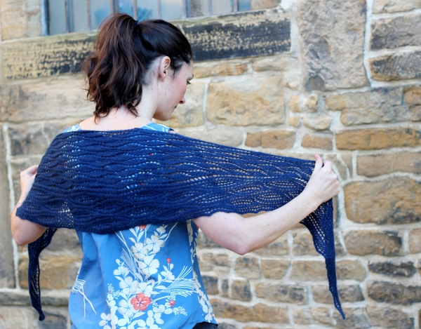 The Estuary Shawl (it's a free pattern!) in Titus 4-ply