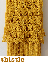 Thistle Scarf by Tin Can Knits