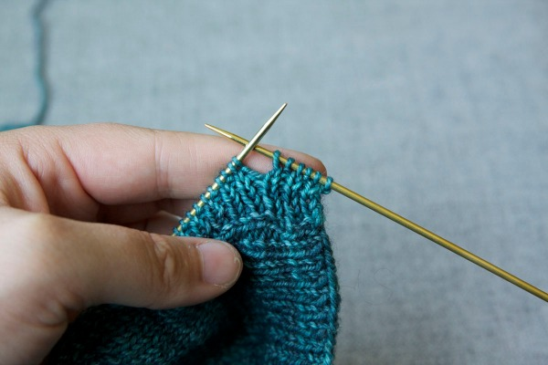 Work to where you want your first buttonhole.