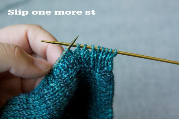 3. slip 1 more stitch