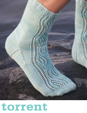 Torrent Socks by Tin Can Knits