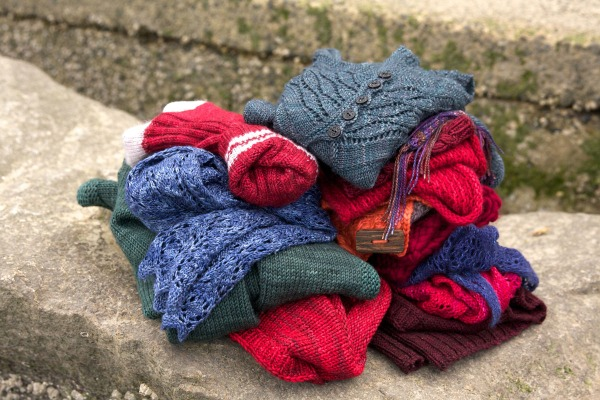 All the knits for mum over the years