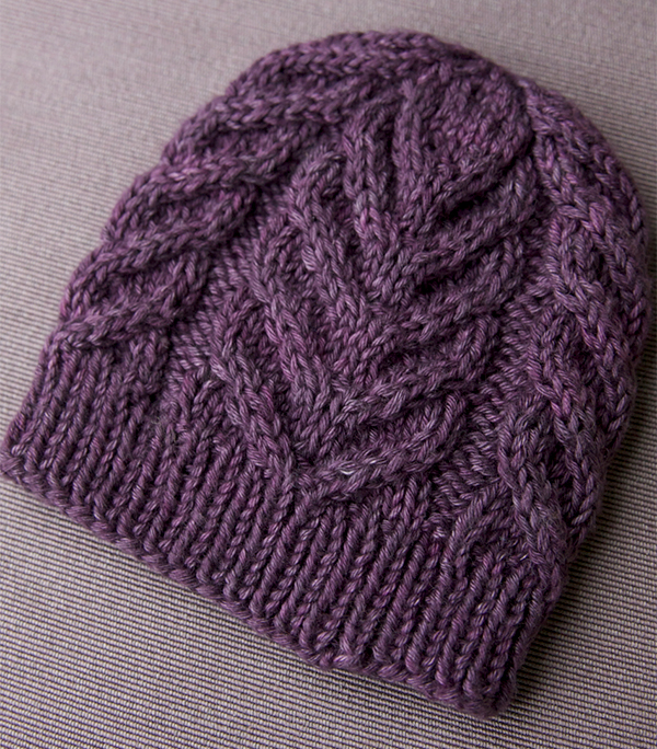 The Antler hat , another great free cable pattern from Tin Can Knits.