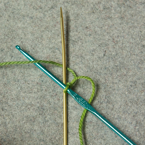 Step 3: move your hook OVER the needle