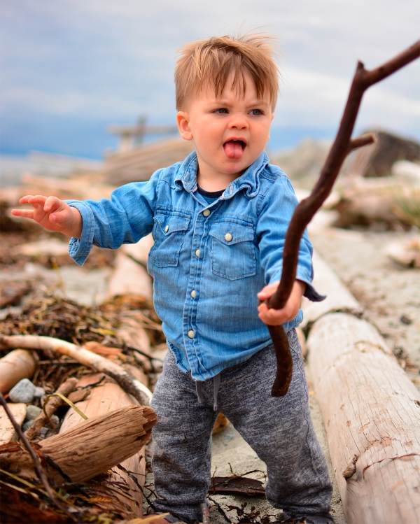Boy with a stick