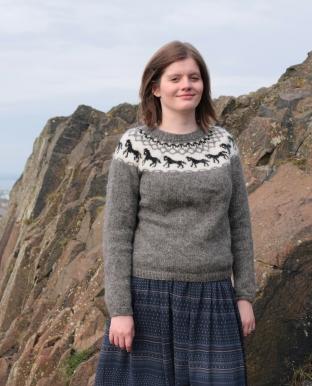 Hestapeysa - Jóhanna Hjaltadóttir - http://www.ravelry.com/patterns/library/hestapeysa-icelandic-sweater-with-horses