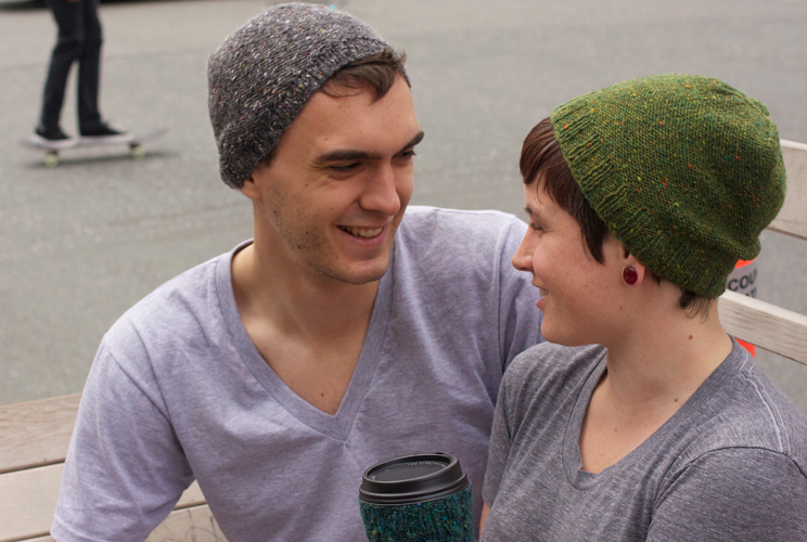 Hipster Hat Knitting Pattern : Hip Slouchy Hat Tin Can Knits