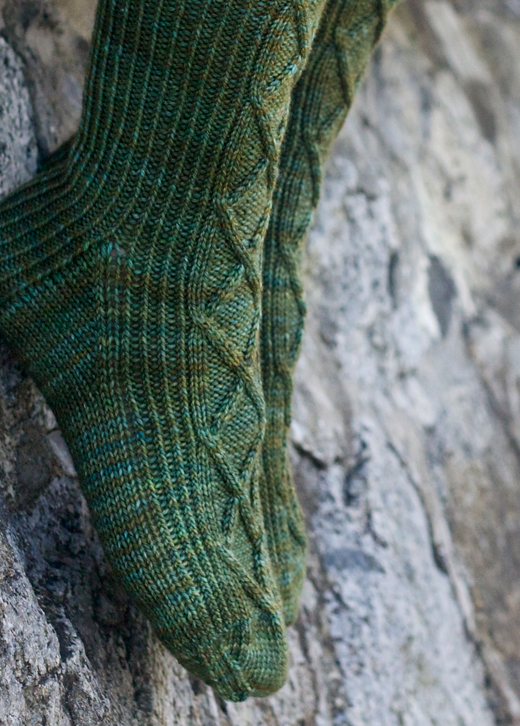 Sea Wall Socks by Tin Can Knits