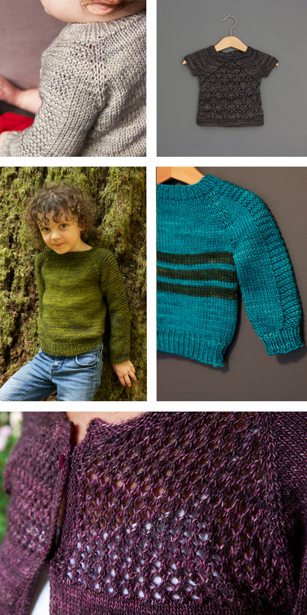 I knit a few Flax this year, including a grey one for my new nephew, a striped version for a friends new baby, and a green one that fit Hunter for about 3 seconds (but Jones is making good use of). I also knit Ellis a wee Prairie Fire and completed the Grace cardi I started ages ago for my mum