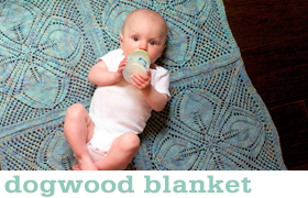 Dogwood Blanket by Tin Can Knits