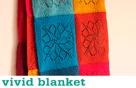 Vivid Blanket by Tin Can Knits