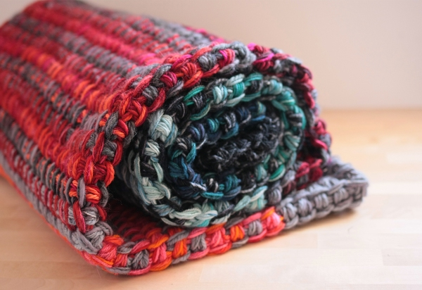 tunisian crochet blanket