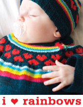 I Heart Rainbows Pullover by Tin Can Knits