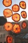 Made grapefruit ornaments