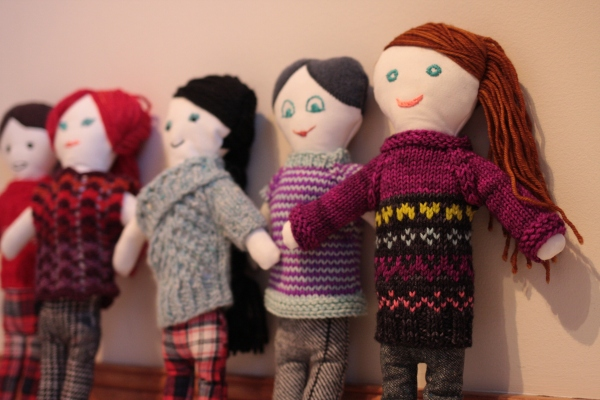 One of the larger projects I worked on since I started the #yearofmaking project was these dolls, made for my kids and nieces and nephews this Christmas