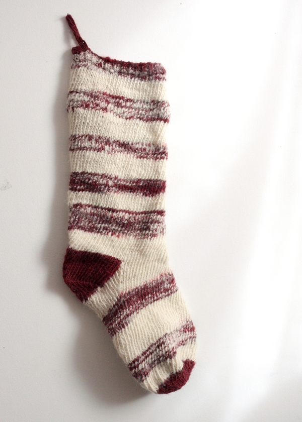 handspun stocking