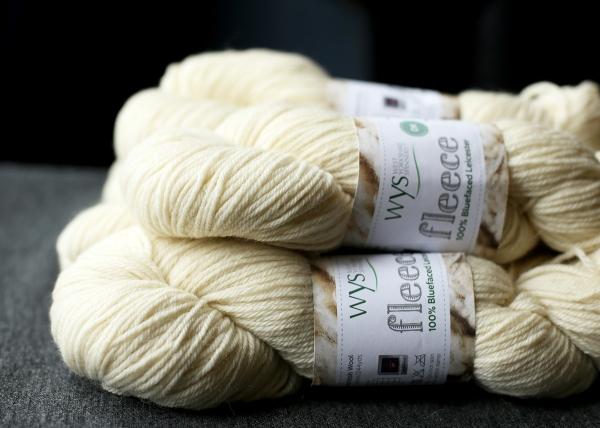 5 skeins of WYS fleece DK in ecru donated by the Loveliest Yarn Company
