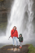 Max and I walked behind the waterfall