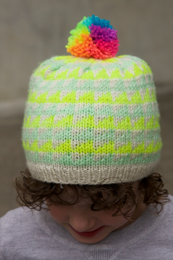 9fc08bc1b18e4 Hunter s low contrast Prism hat got a high contrast rainbow pom!
