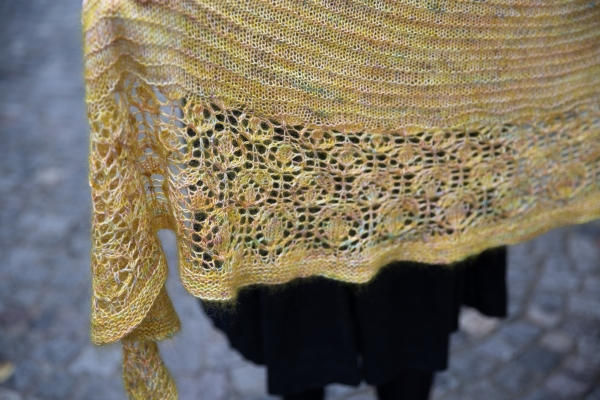 fa515399ea163c You can see how La Bien Aimee's 'yellow brick road' mohair is a much more  saturated colour over the speckled colourway 'romance'. I love this  combination; ...