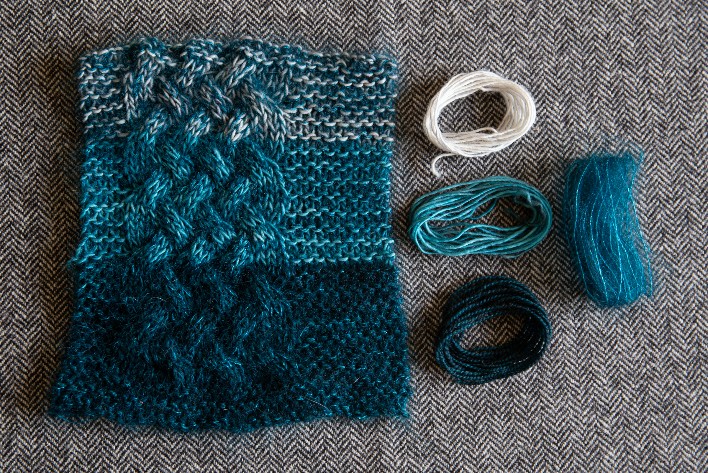 Painterly Yarn Combinations Layering Mohair Over A Base Yarn Tin Can Knits