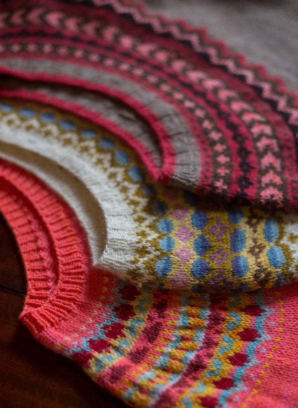 colourwork yoke sweaters