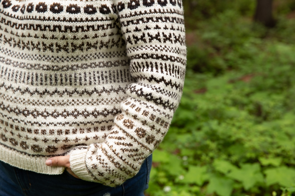 Cartography sweater pattern