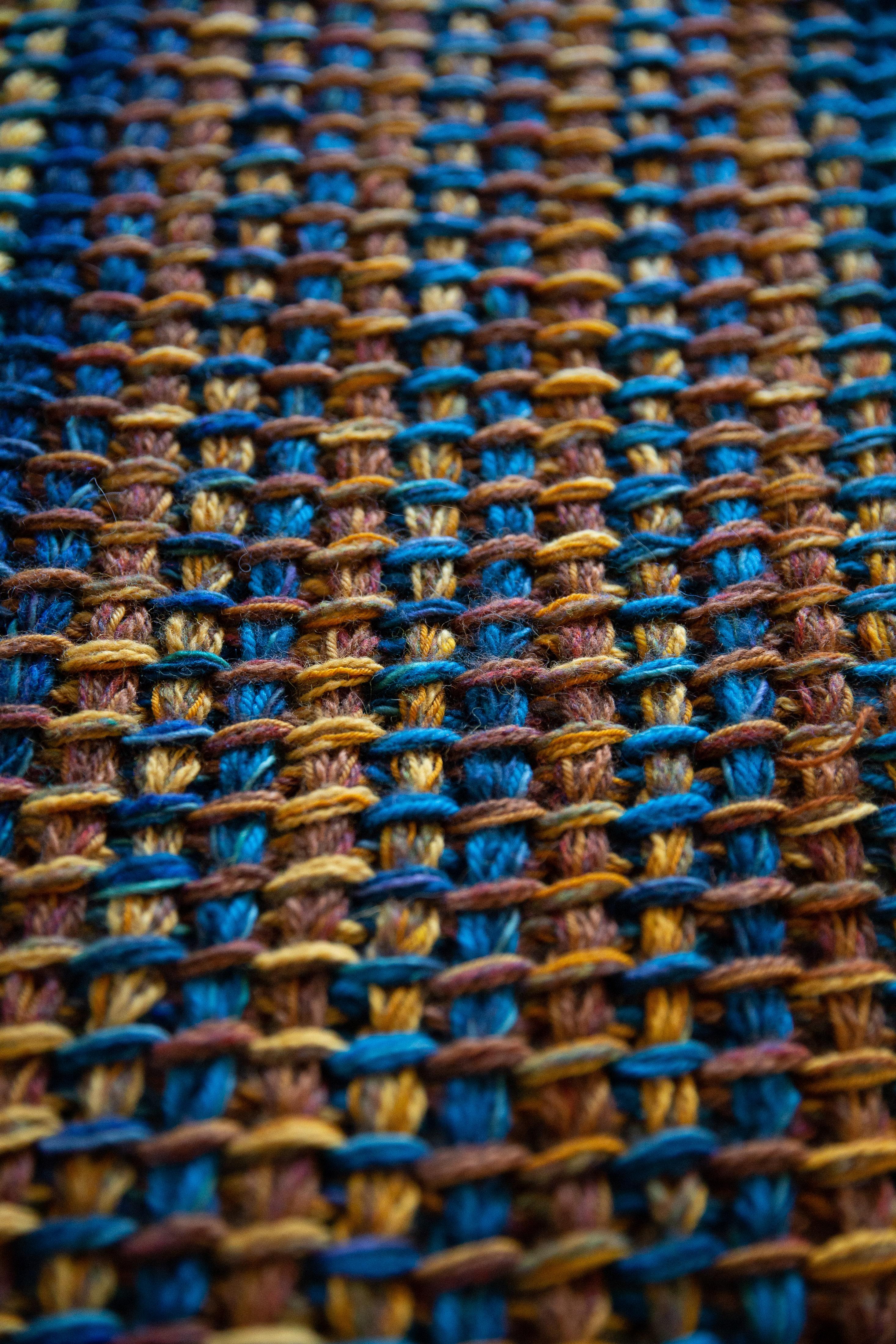 Detail of Tunisian crochet blanket