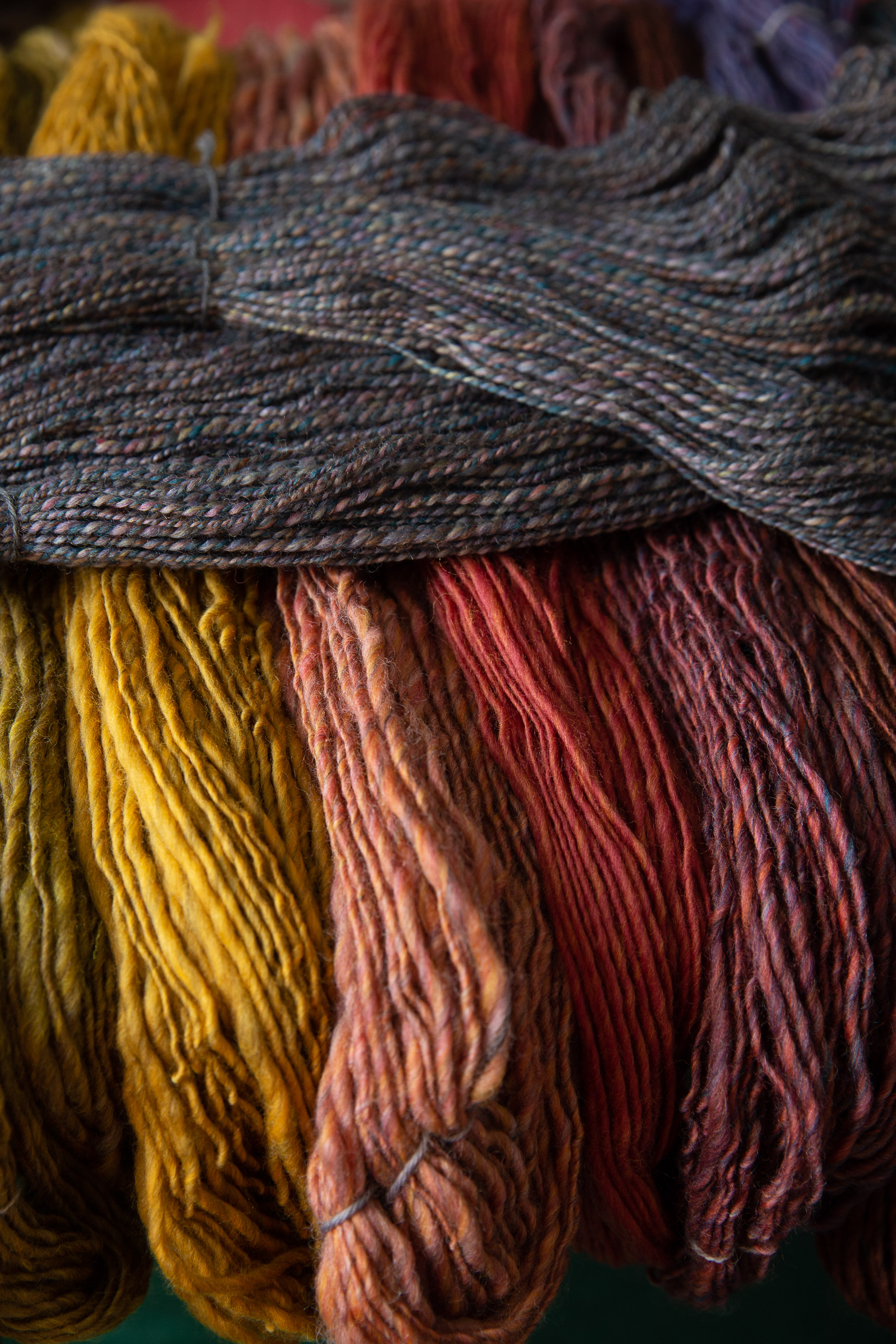 colourful handspun yarn