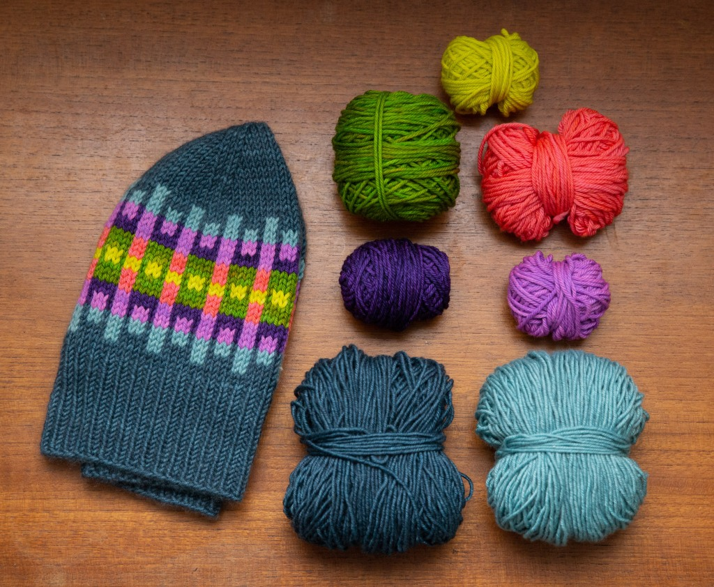 Choosing a palette for the Sunshine Sweater or Hat